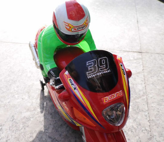 Kids Red Plastics Electric Motorcycle Toy