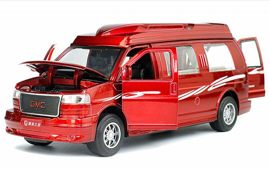 White / Black / Wine Red 1:32 Scale GMC Motor Homes Toy