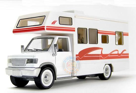 Kids White-Red Die-Cast Motor Homes Van Toy