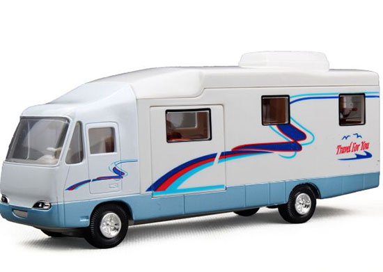 White / Creamy White Kids Die-Cast Motor Homes Van Toy