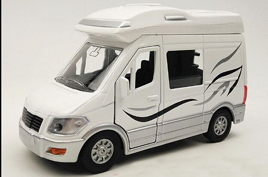 1:32 Scale White Kids Die-Cast Motor Homes Toy