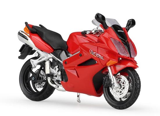 Red 1:18 Scale MaiSto Diecast Honda VFR 2002 Motorcycle Model