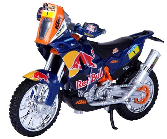 1:18 Scale Blue Bburago Diecast KTM 450 RALLY Model