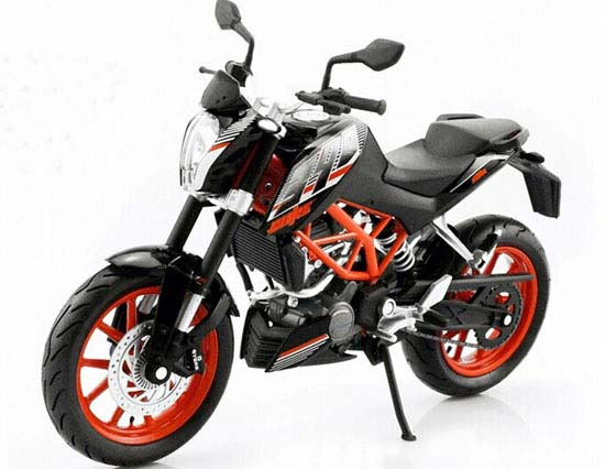 Black 1:12 Scale Diecast KTM DUKE 390 Motorcycle Model