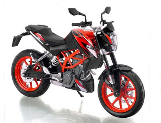 1:12 Scale Black Die-Cast KTM DUKE 200 Motorcycle Model