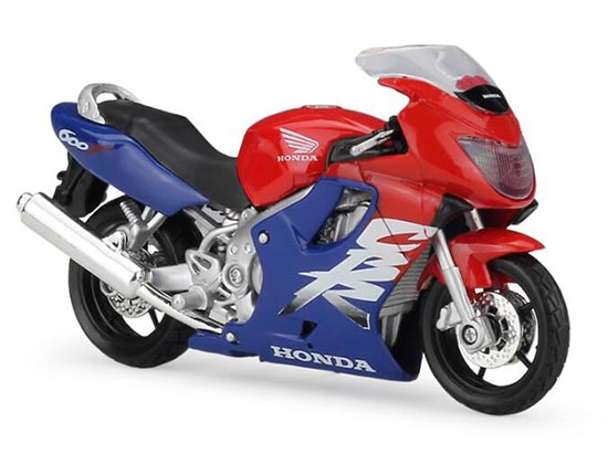 1:18 Scale Red-Blue MaiSto Diecast Honda CBR 600F Motorcycle