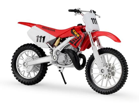 Red MaiSto 1:18 Scale Diecast HONDA CR250R 111 Motorcycle