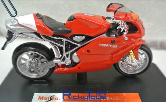 Red 1:18 Scale MaiSto Diecast DUCATI 999S Motorcycle Model