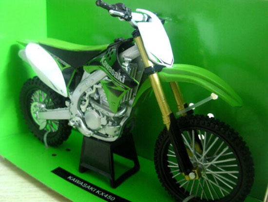 Green 1:12 Scale NewRay Diecast Kawasaki KX450 Model