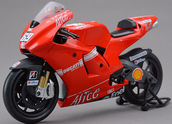 1:12 Red NO.69 NewRay Diecast Ducati Desmosedici GP09 Model