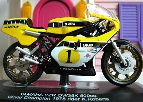 Yellow 1:22 Scale ITALERI Diecast Yamaha YZR OW35K Model