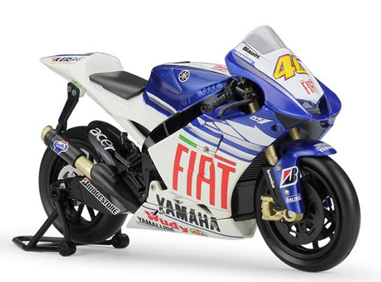1:12 Scale White-Blue NO.46 Diecast Yamaha YZR-M1 Model
