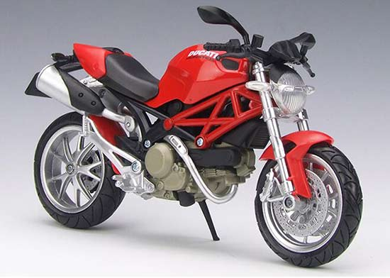 Black / Red 1:12 Scale NewRay Diecast Ducati MONSTER 1100 Model