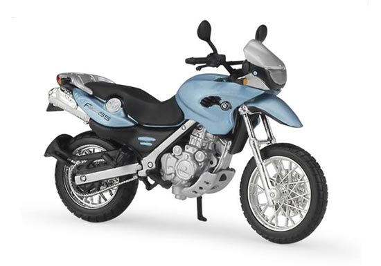 Blue 1:18 Scale MaiSto Diecast BMW F650 GS Model