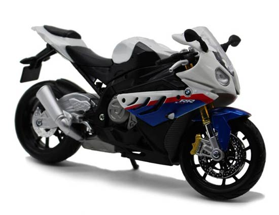1:12 Scale Blue-White MaiSto Assembly Diecast BMW S1000RR