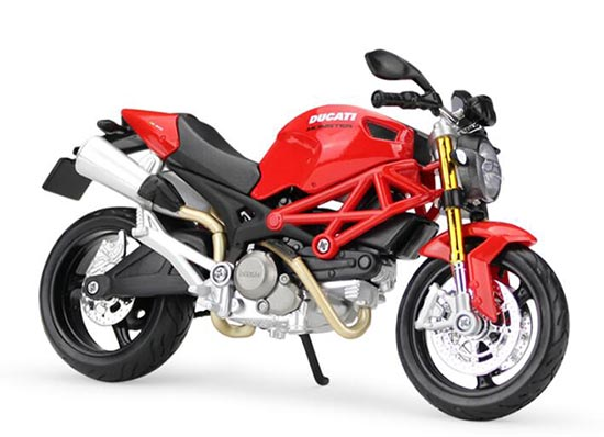 Red 1:12 Scale MaiSto Assembly Diecast Ducati MONSTER 696