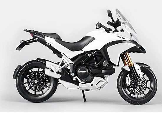 White 1:12 Scale Assembly Diecast Ducati Multistrada 1200S Model