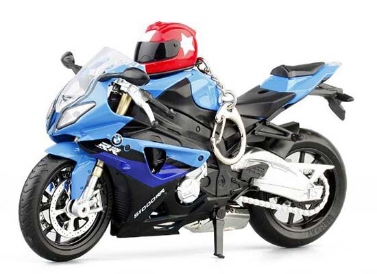 White / Blue / Green / Red 1:12 Kids Diecast BMW S1000RR Toy