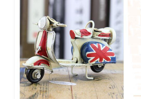 Handmade 1:12 Scale Vintage Tinplate Vespa Scooter Model
