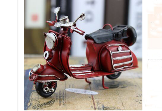 Red Handmade 1:12 Scale Vintage Vespa Scooter Model