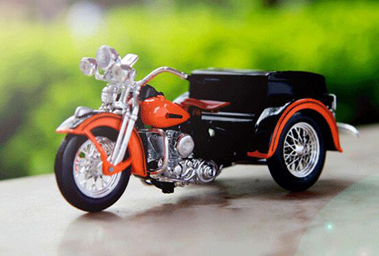 1:18 Scale Maisto Black / Orange Diecast Harley Davidson Model