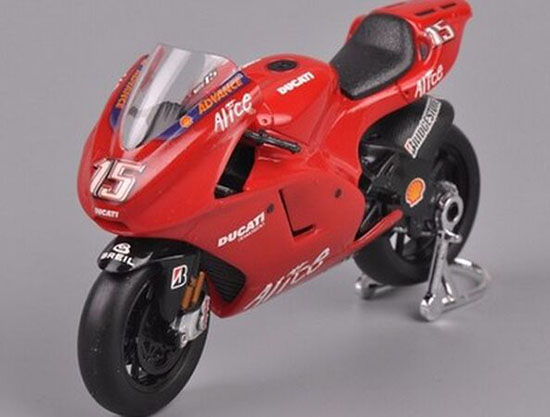 Red 1:18 Scale SAICO NO.15 Diecast Ducati Motorcycle
