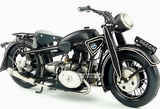 Handmade Medium Scale Black Tinplate 1923 BMW R32 Model