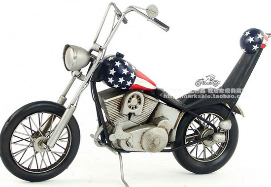 Handmade Medium Scale Tinplate 1969 Harley Davidson Model