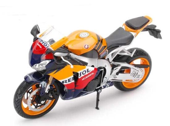 Orange 1:12 Scale Diecast Honda CBR 1000RR Motorcycle Model