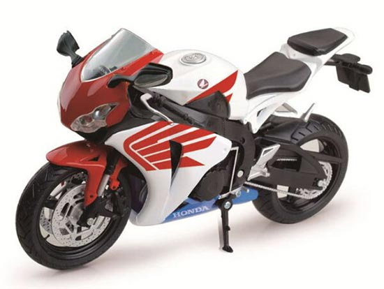 White 1:12 Scale Diecast Honda CBR 1000RR Model