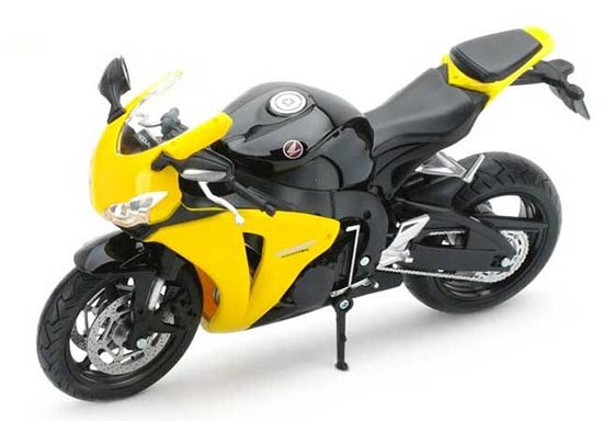 Yellow / Silver 1:12 Scale Diecast Honda CBR 1000RR Model