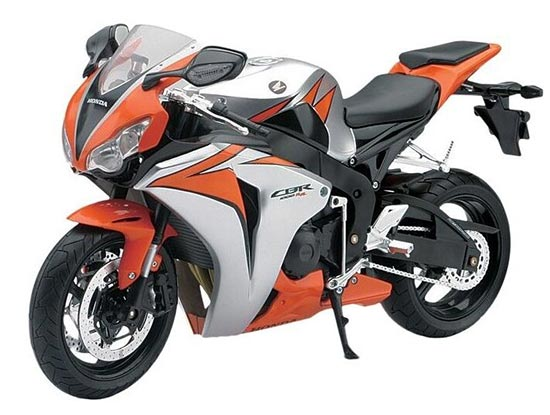 Silver-Orange 1:6 Large Scale NewRay Diecast Honda CBR 1000RR