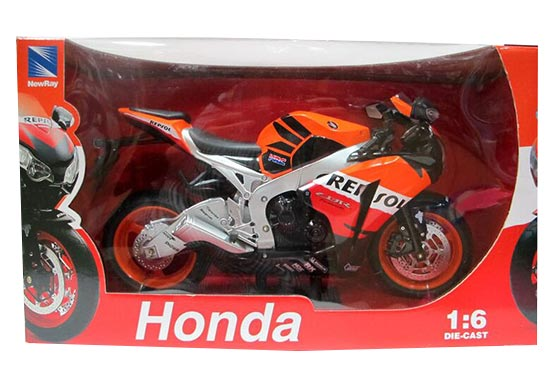 1:6 Scale Orange NewRay 2009 Diecast Honda CBR 1000RR