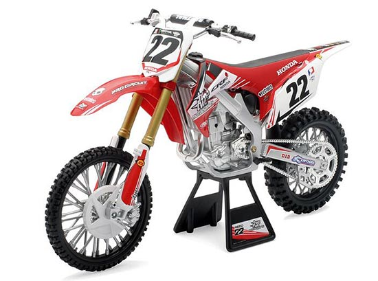 Red 1:6 Scale NewRay NO.22 Diecast Honda CRF450R Model