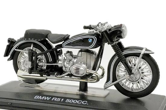 Black 1:22 Scale Italeri Diecast BMW R51 500cc Model