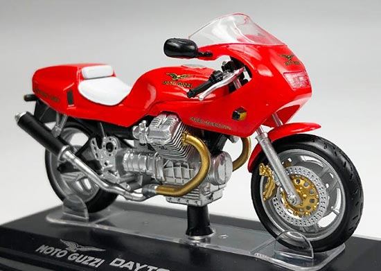 1:22 Red Italeri Diecast MOTO GUZZI DAYTONA 1000 Model