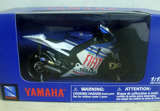 1:18 Scale White-Blue NewRay Diecast Yamaha M1 Model