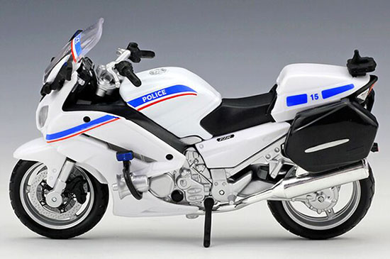 Black / White / Blue 1:18 Police Diecast Yamaha FJR 1300A Model