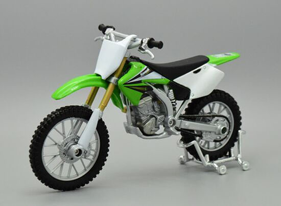 1:18 Scale Green MaiSto Diecast Kawasaki KX250F Model