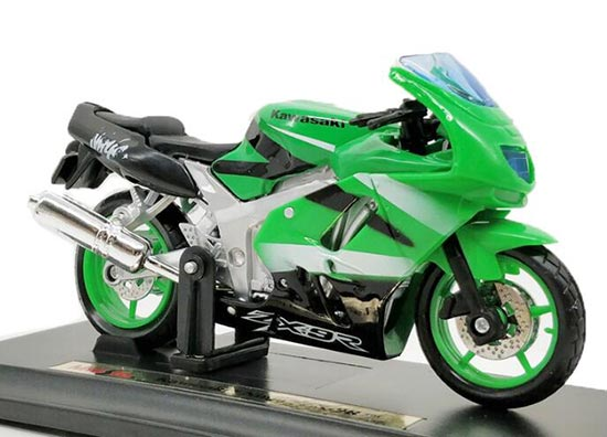 1:18 Scale Green MaiSto Diecast Kawasaki ZX-9R Model