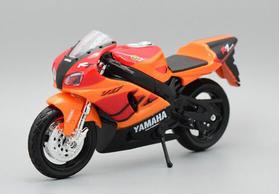 1:18 Scale Orange MaiSto Diecast Yamaha YZF-R7 Model