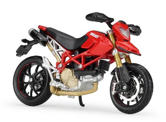 Red 1:18 Scale MaiSto Diecast Ducati Hypermotard 1100S Model