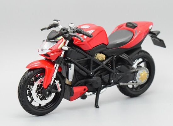 1:18 Scale Red MaiSto Diecast Ducati Streetfighter Model