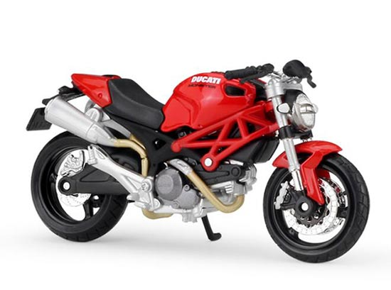 Red 1:18 Scale MaiSto Diecast Ducati Monster 696 Model