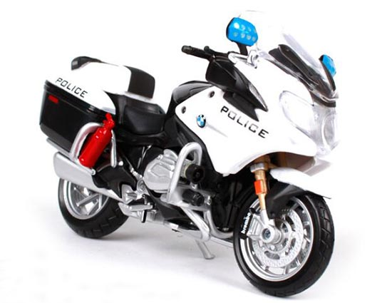 White 1:18 Scale MaiSto Police Diecast BMW R1200RT Model
