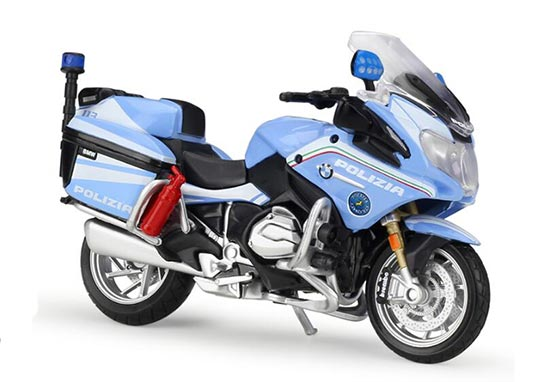 Blue 1:18 Scale MaiSto Police Diecast BMW R1200RT Model