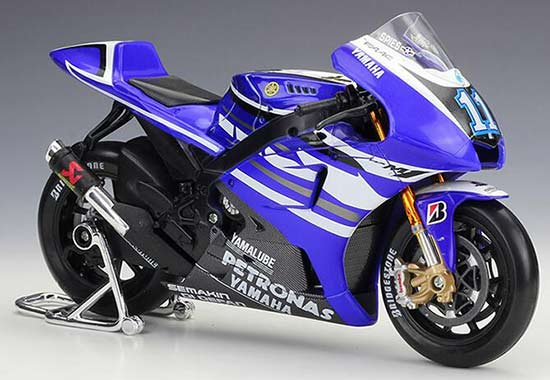 Blue 1:10 Scale Maisto Diecast Yamaha YZR-M1 Motorcycle Model