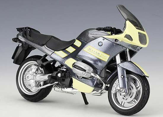 Silver 1:18 Scale Maisto Diecast BMW R1150 RS Motorcycle Model