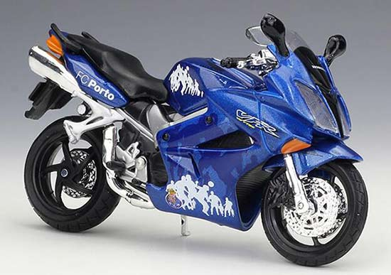 Blue 1:18 Scale Maisto Diecast 2002 Honda VFR Motorcycle Model