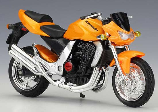 Orange 1:18 Scale Maisto Diecast Kawasaki Z 1000 Model